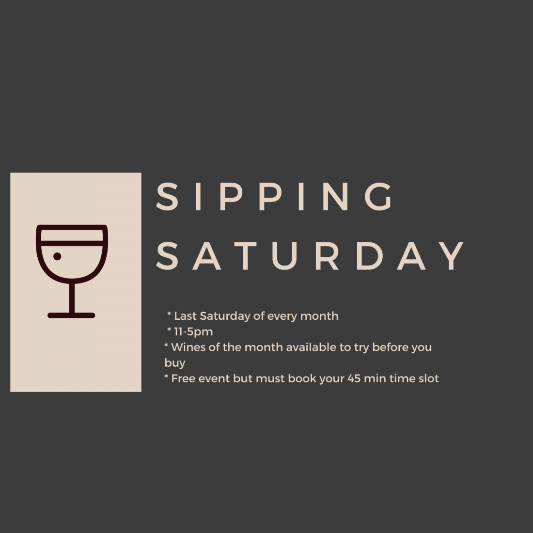 Sipping Saturday October